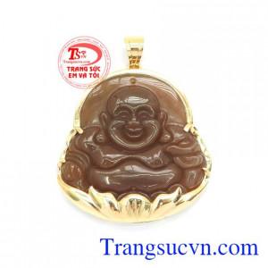 Mặt Phật Di Lặc Mã Não Hoan Hỉ