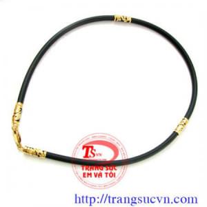 Dây Cao Su Bọc Vàng -loại 5 ly, vàng 18K