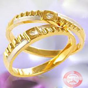 Nhẫn cưới vân vuông N02