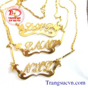 Dây chuyền vàng tây chữ cái