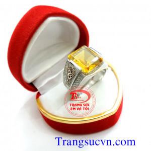 Nhẫn Citrine vàng tây 14k