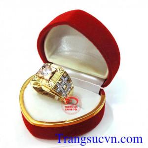 Nhẫn nam vàng hồng