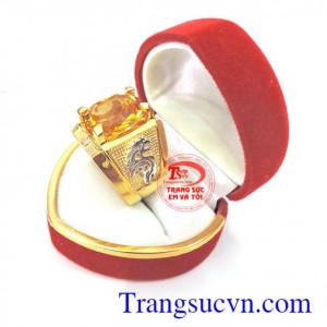 Nhẫn nam vàng đá vàng