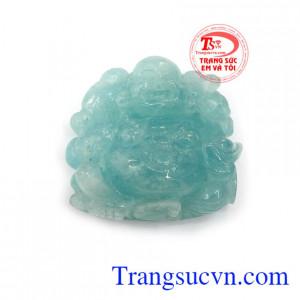 Phật di lặc aquamarine