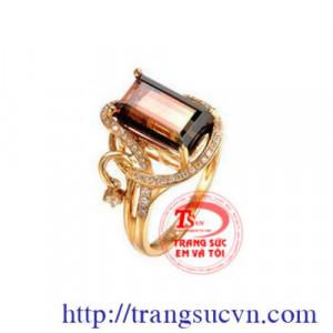 Nhẫn nữ tumalin