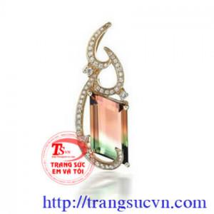 Mặt dây Tourmaline