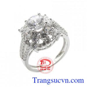 Nhẫn nữ trẻ trung vàng 18k