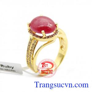 Nhẫn nữ ruby thiên nhiên đẹp