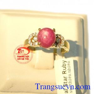 Nhẫn nữ ruby sao đẹp