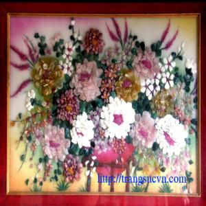 Tranh đá quý hoa