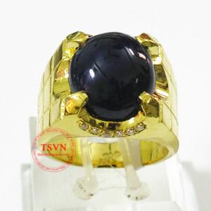 Nhẫn vàng 999 gắn Sapphire thiên nhiên