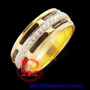 Nhẫn vàng lông voi may mắn