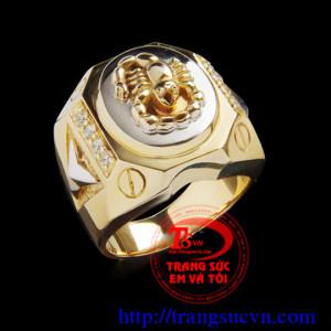 Nhẫn Mặt bọ cạp vàng 14K