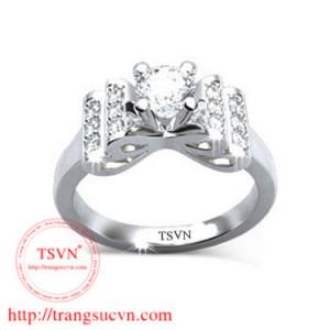 nhẫn nữ kim cương nhân tạo