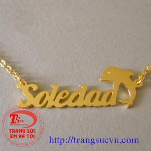 Dây chuyền chữ vàng cá voi