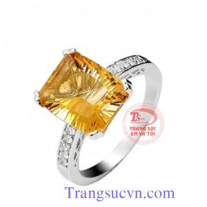 Nhẫn vàng tây chữ nhật