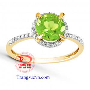 Nhẫn nữ đẹp-Peridot