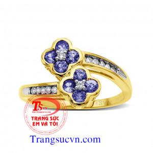 Nhẫn sapphire đẹp-nhẫn nữ theo yêu cầu