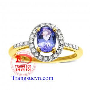 Nhẫn đá quý saphir đẹp tuyệt