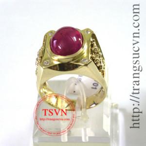 Nhẫn ruby cabochon
