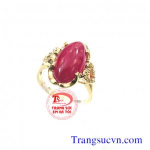 Nhẫn nữ ruby thiên nhiên