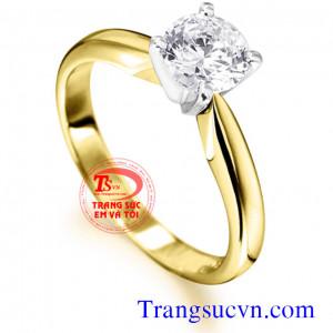 Nhẫn nữ đá topaz trắng