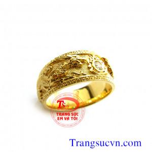Nhẫn nữ vàng tây long phụng