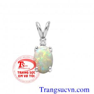 Mặt đá opal quý vàng