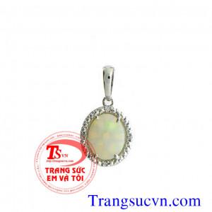 Mặt opal tự nhiên vàng trắng
