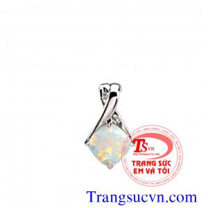 Mặt dây đá quý opal