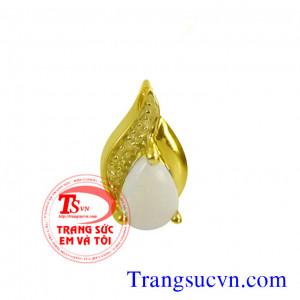 Mặt đá opal vàng 18k