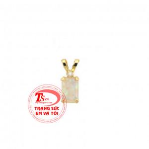 Opal hồng vàng tây mặt