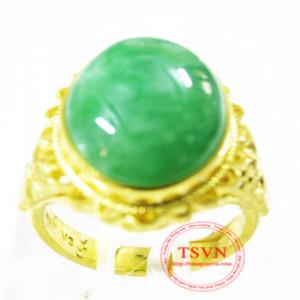 Nhẫn vàng gắn đá cẩm thạch