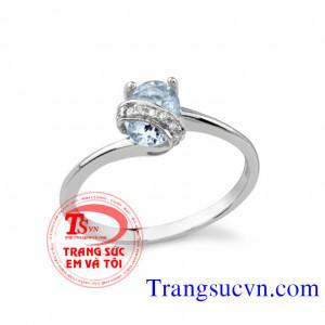 Nhẫn nữ mệnh Mộc đá quý
