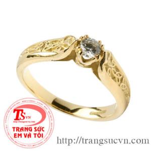 Nhẫn nữ đính đá