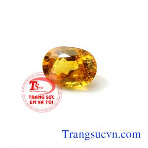 Đá Saphir vàng thiên nhiên 7,95ct