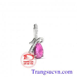 Mặt dây đá Tumalin
