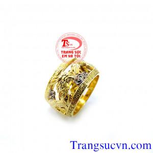 Nhẫn rồng vàng lồng vàng 10k