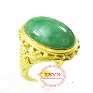 Nhẫn vàng ngọc cẩm thạch