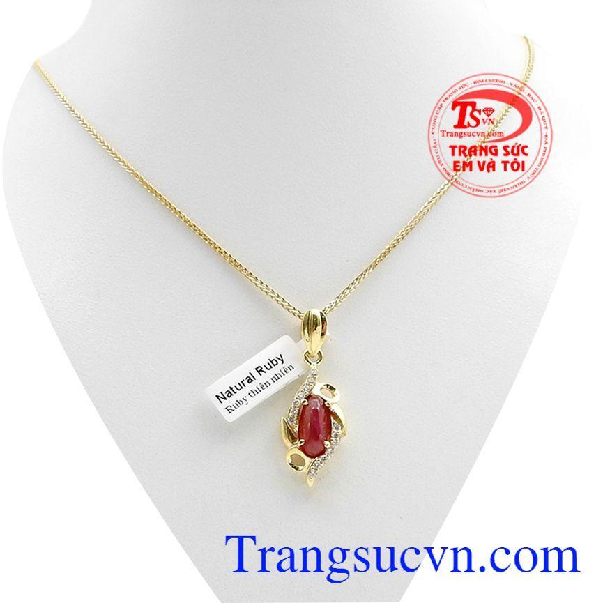 Bộ dây vàng đá quý ruby