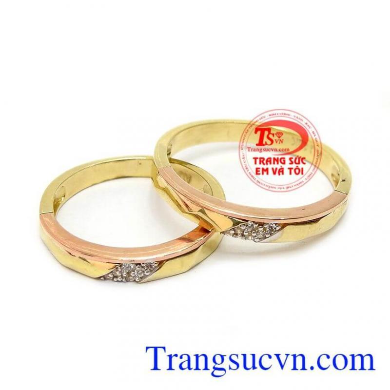 Nhẫn cưới yêu thương vàng 10k