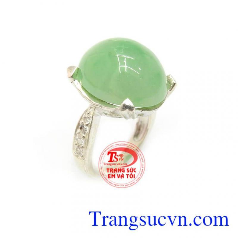 Nhẫn bạc ngọc cẩm thạch đẹp