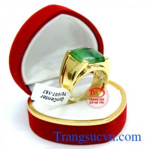 Nhẫn nam ngọc jadeite chuẩn