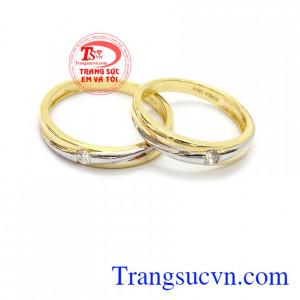 Nhẫn cưới vàng tây giá rẻ