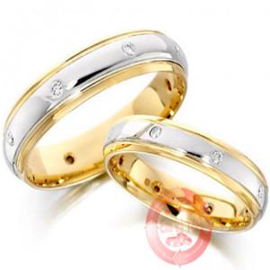 Nhẫn cưới vàng tây phong cách