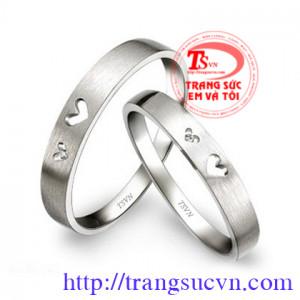 Cặp nhẫn cưới vàng trắng
