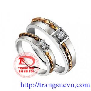 Cặp nhẫn cưới tình yêu vĩnh cửu