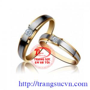 Đôi nhẫn cưới hạnh phúc