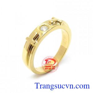 Nhẫn Nữ Thánh Giá Vàng 14k