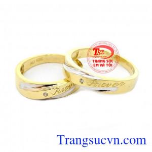 Nhẫn cưới Forever vàng 10k